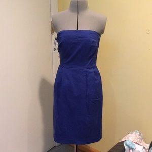 Royal Blue strapless dress